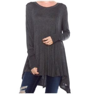 Tops - Charcoal Tunic